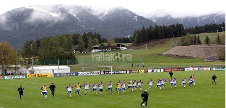 لقطة من تدريب منتخب هولندا على ملعب بيدفيست في المونديال