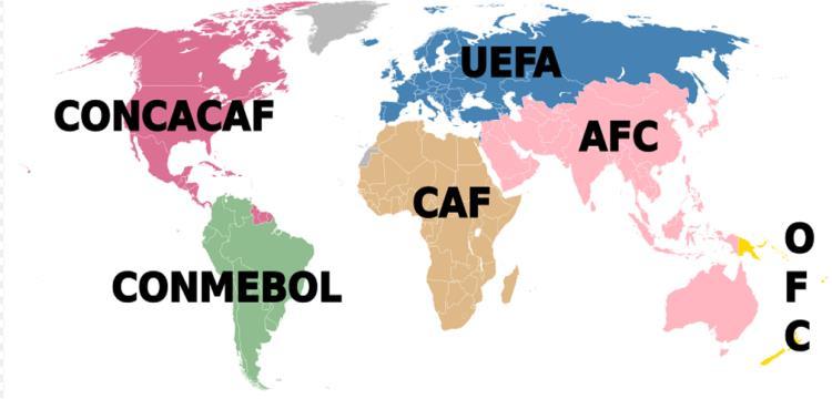 الاتحادات القارية في العالم