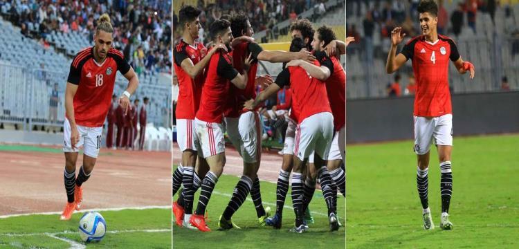 صورة من مباراة مصر وتوجو
