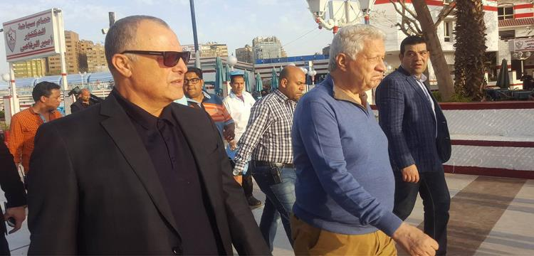 مرتضى منصور مع هاني أبو ريدة في صورة أرشيفية