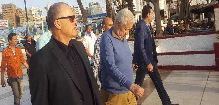 مرتضى منصور مع هاني أبو ريدة
