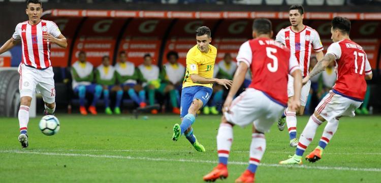 من مباراة باراجواي والبرازيل