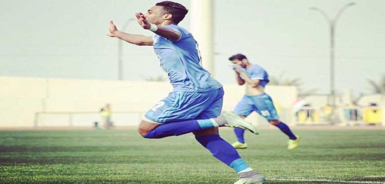 احمد ياسر يحتفل بهدفه