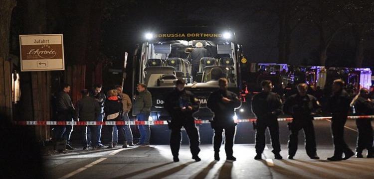 حافلة دورتموند بعد الهجوم