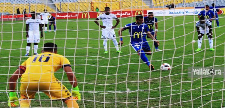 أحمد حسن مكي لحظة تسكيل الهدف (تصوير: حازم جودة)