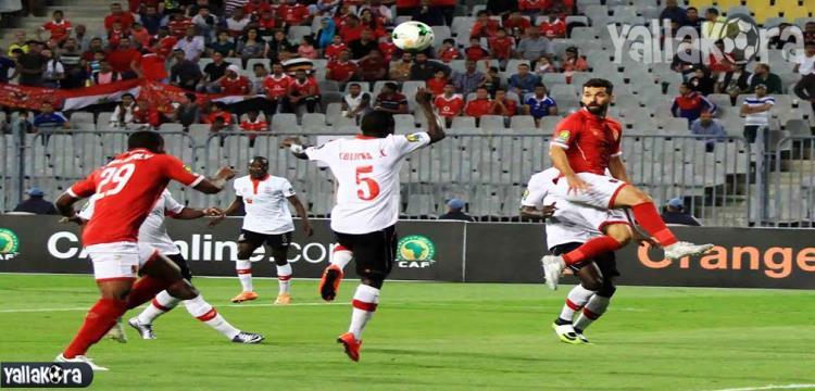 جانب من مباراة الأهلي وزاناكو التي انتهت بالتعادل السلبي