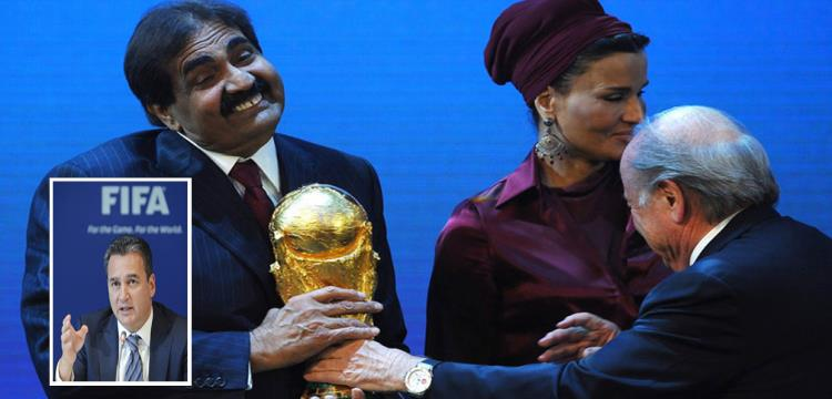 لحظة فوز قطر بتنظيم المونديال.. ومايكل جارسيا في الصورة