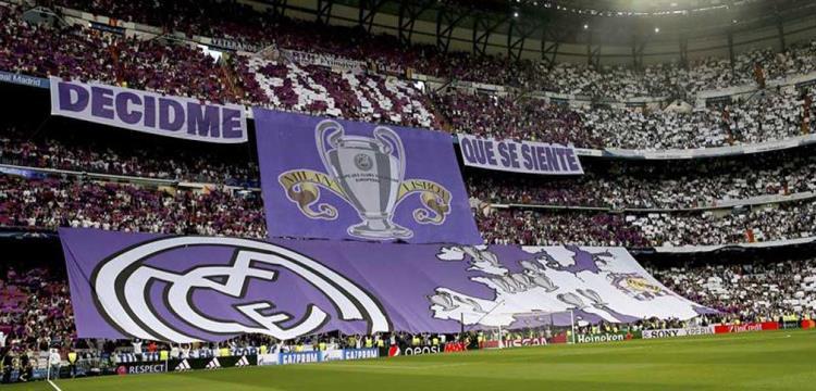 جماهير ريال مدريد قبل دربي دوري الابطال