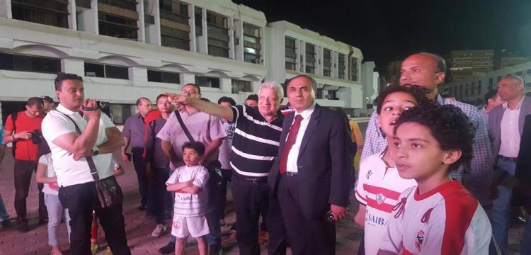 مرتضى منصور ونقيب الصحفيين في الزمالك