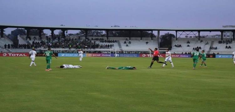 صورة من مباراة الزمالك واهلي طرابلس