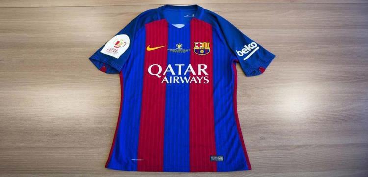 صورة لقميص برشلونة في نهائي الكأس