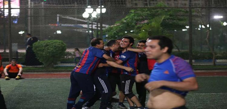 جانب من احتفالات الفريق المتأهل