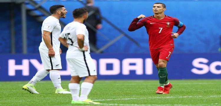 رونالدو يحتفل بهدفه مع المنتخب البرتغالي