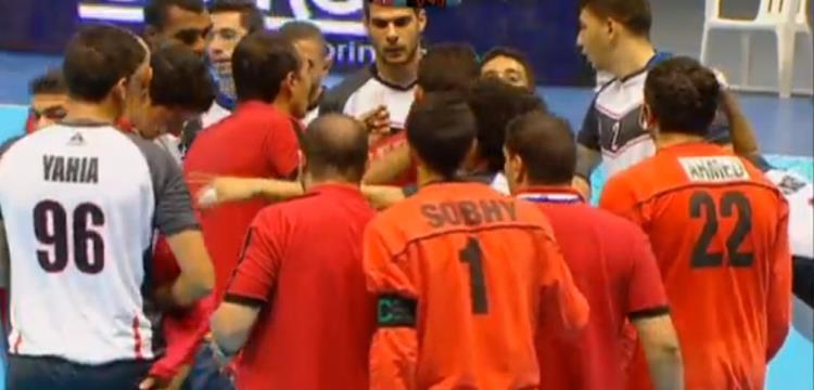 من مباراة مصر وفرنسا