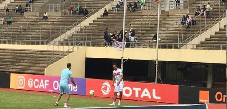 مشجعين الزمالك في ملعب زيمبابوي