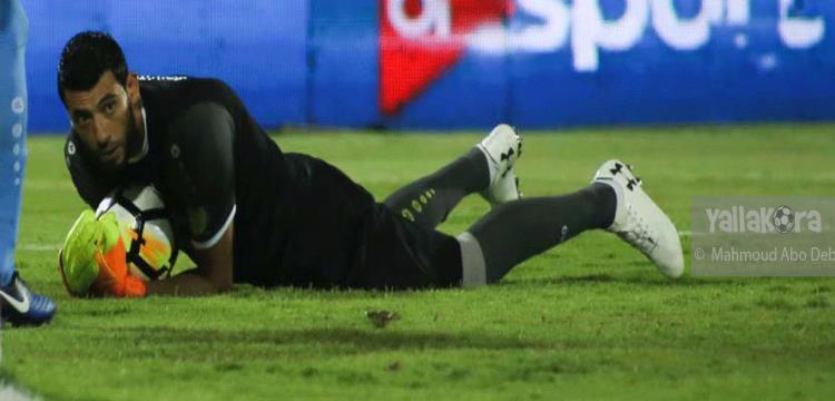 معتز ياسين في لقطة من مباراة الأهلي