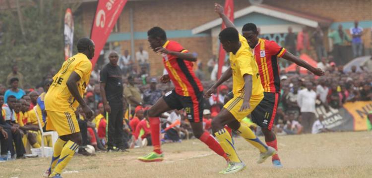 لقطة من مباراة أوغندا وفريق المقاطعة الغربية