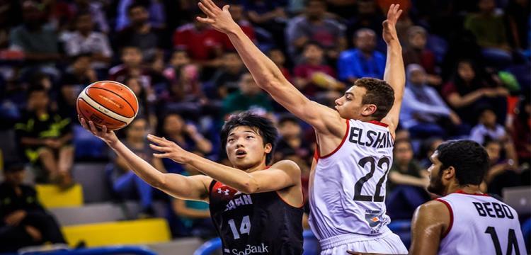 لقطة من مباراة مصر واليابان