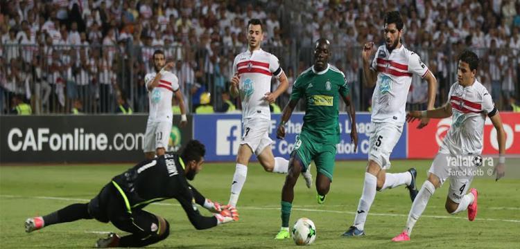 لقطة من مباراة الزمالك وأهلي طرابلس
