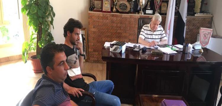 مرتضى منصور ومحمود علاء