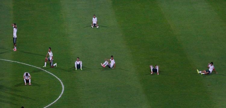 لاعبو المصري بعد المباراة