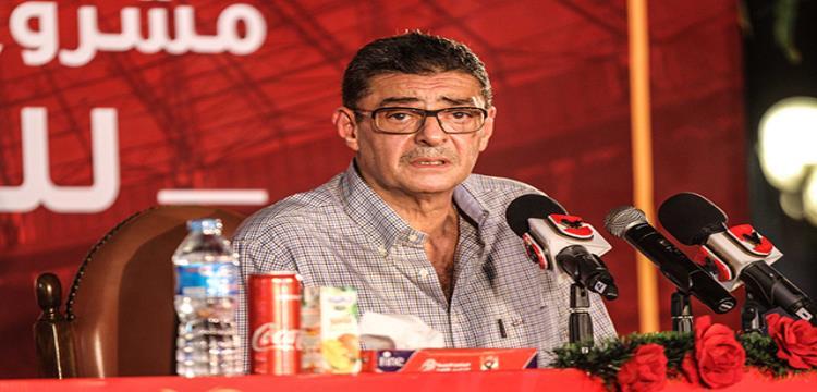 محمود طاهر خلال الندوة مساء الجمعة