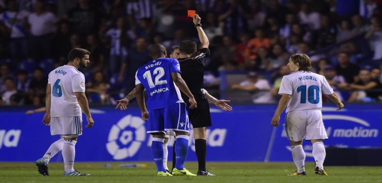 راموس يتعرض للطرد في أول مباراة بالدوري الإسباني