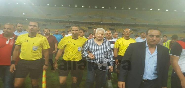 مرتضى منصور وحكم المباراة