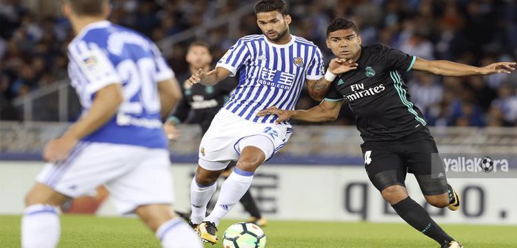 لقطة من مباراة سوسيداد وريال مدريد