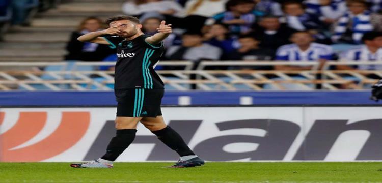 مايورال يحتفل بهدفه الأول مع ريال مدريد