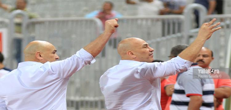 التوأم حسام وإبراهيم حسن خلال مباراة الزمالك