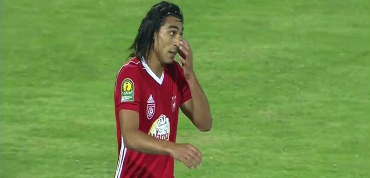 عمرو مرعي بعد تسجيل الهدف