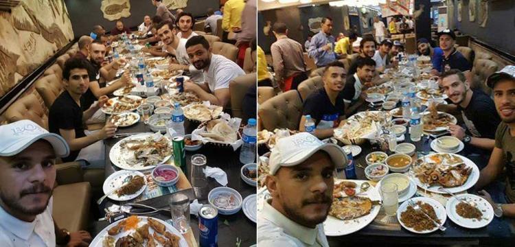 عزومة مرتضى منصور للاعبين