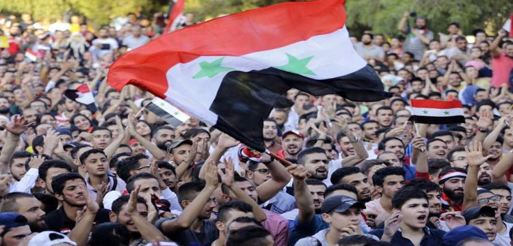 صورة لجماهير سوريا أثناء متابعة المباراة من موقع فيفا