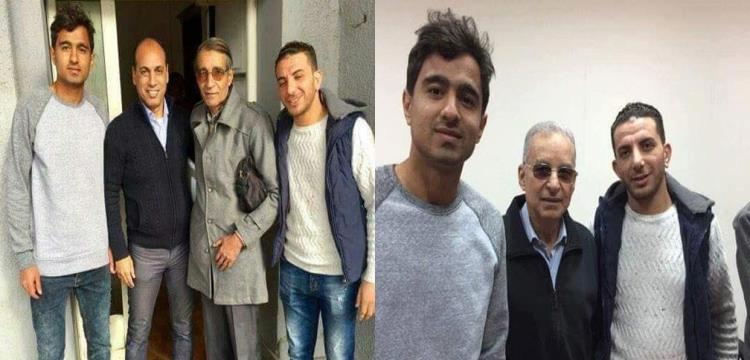 محمد فخري يقف بجوار علاء عبدالصادق وعلى يمين زيزو