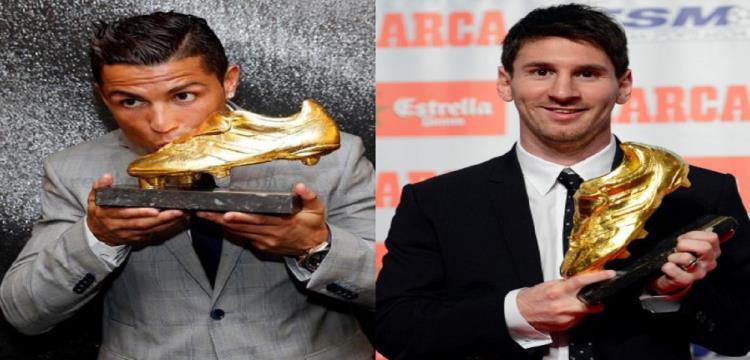 رونالدو وميسي أبرز المتوجين تاريخيا بالحذاء الذهبي