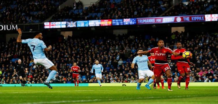 صورة من مباراة مانشستر سيتي
