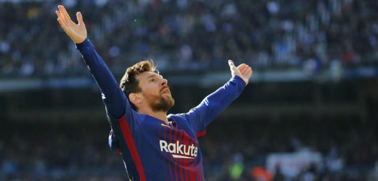 ليونيل ميسي نجم فريق برشلونة