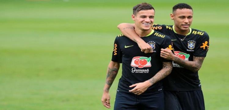 نيمار وكوتينيو نجما منتخب البرازيل