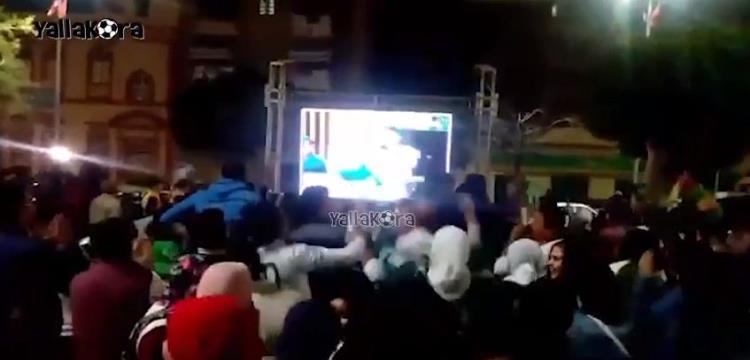 فرحة جماهير بورسعيد بأول أهداف المصري في الكونفدرالية