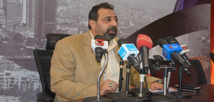مجدي عبد الغني خلال المؤتمر الصحفي