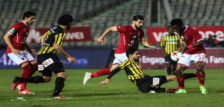 جانب من مباراة الأهلي والمقاولون العرب