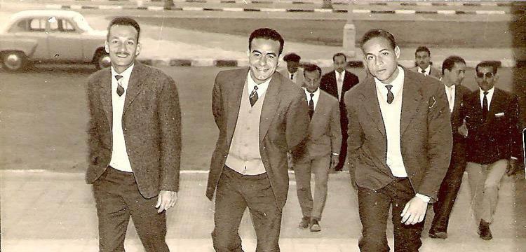 السيد الضيظوي لاعب المصري يتوسط الصورة
