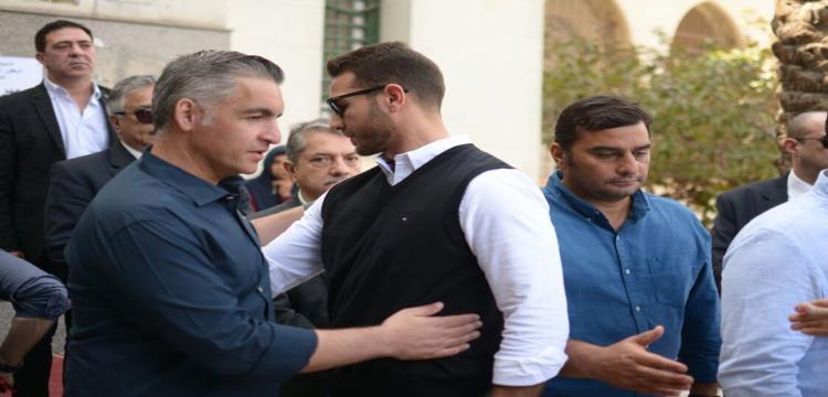 سيف زاهر في جنازة سمير زاهر