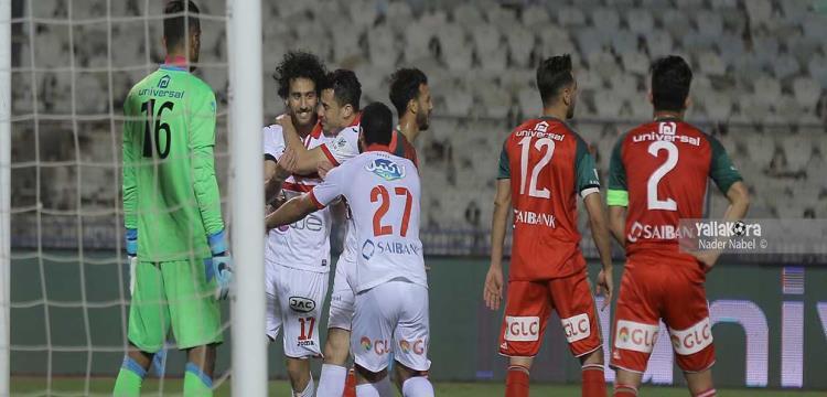 باسم يحتفل بهدفه