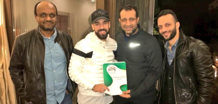 عبد الله السعيد برفقة أحمد وأمير مرتضى منصور