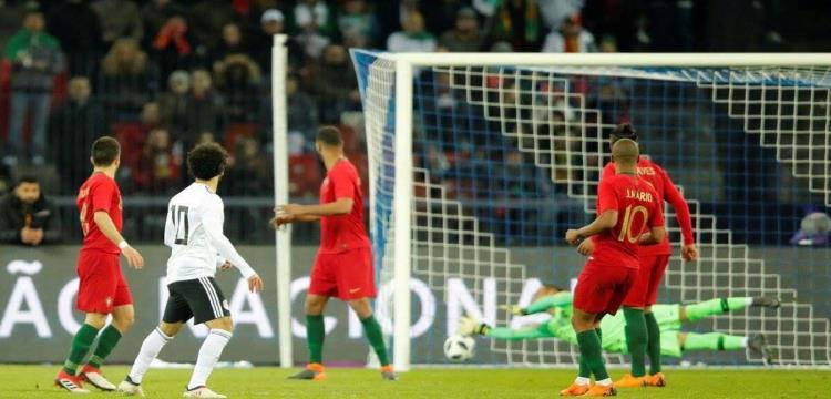 جانب من مباراة مصر والبرتغال