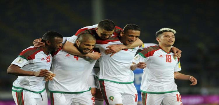 احتفال لاعبي المغرب بالفوز