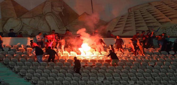 أعمال تخريب أثناء مباراة الأهلي ومونانا