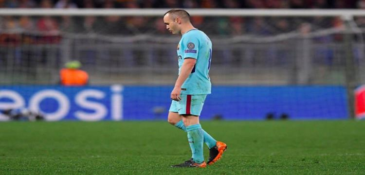 إنييستا اتخذ قراره بالرحيل عن برشلونة